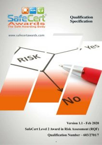 Risk Assessment Qualification Specification