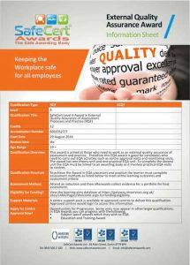 EQA Verifier Awards Information Sheet