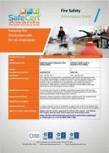 Fire Safety Award Information Sheet
