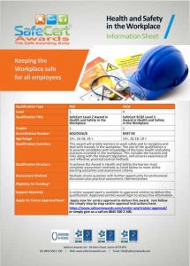 Health and Safety Award Information Sheet