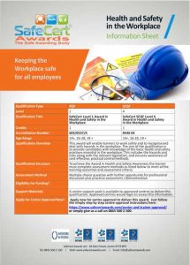 Health and Safety Awareness Information Sheet