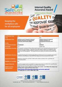 IQA Awards Information Sheet