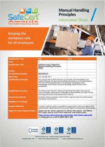 Manual Handling Principles Information Sheet