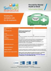 First Aid for Mental Health Information Sheet