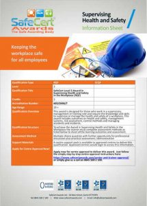 Supervising Health and Safety Information Sheet